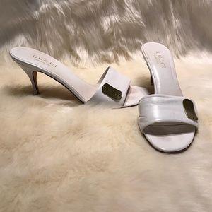 Gucci Vintage White Slides